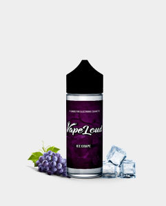 VapeLoud tečnost Ice Grape 100ml 0mg