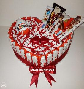 Poklon - Kinder torte od slatkiša, kombinacije po želji