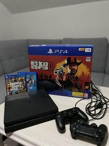 Sony PlayStation4 1TB+ dva joystika+GTA5 FIFA19