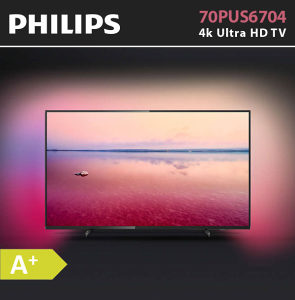 "Philips 4K 70"" UltraHD TV 70PUS6704 AMBILIGHT PUS6704"