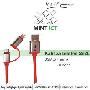 Kabl Marvo 2in1 UC-049/iPhone/Micro