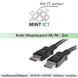Kabl DIsplayport M - Displayport M 2m