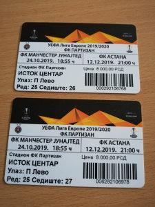 Partizan Astana karta dvije karte