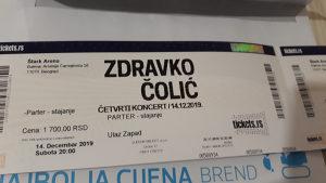 Ulaznice za koncert Zdravka Čolića