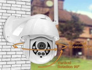 AKCIJA Vanjska WIFI pokretna kamera za nadzor FullHD