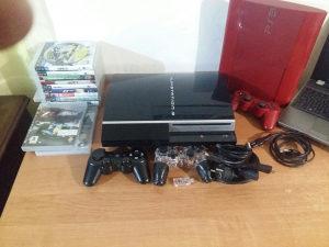 PS3 Fat/ 80 GB / 2 Dzojstika / 3 Igre.