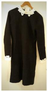 HALLHUBER Crna haljina s kragnom  Vel. 38