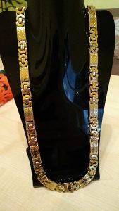 Lanac kajla zlato kraljevski rad plocice