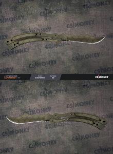 Butterfly Safari Mesh FT 0.19 CSGO Knife Item Skin