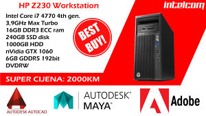 HP Z230 Workstation Core i7 4th gen. GTX1060