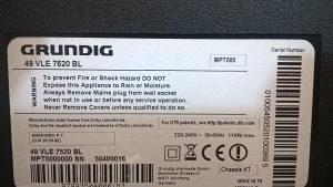GRUNDIG 49 VLE 7520 BL Main Board VKT190R-4 V-0