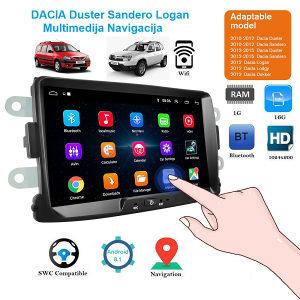 DACIA DUSTER SANDERO Multimedija Radio Android