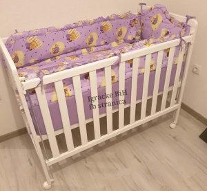 Krevetac za bebe + dušek + ogradica VIŠE BOJA NOVO