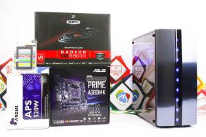 Gaming PC Starter; Ryzen 5 2600; RX 580; SSD; DDR4