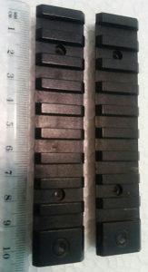 Airsoft Picatinny rail šina za replike 10 cm
