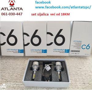 Led sijalice C6 H1 H4 H7 set xenoni ksenoni led AUTO