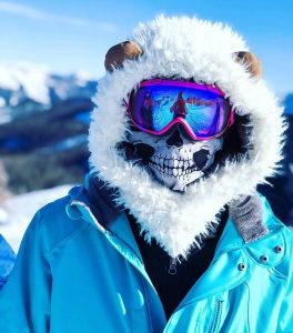Fantomka maska za skijanje bord motor. Kostur maska.