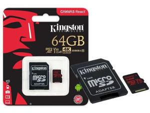 MEM SD MICRO 64GB UHS-I Class U3   1ad KIN Canvas React