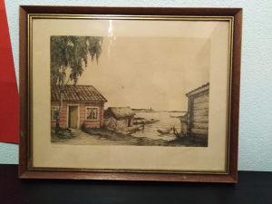 Umjetnička slika, PANORAMA-MARINA, drveni okvir