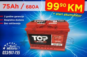 Akumulator 75Ah - 99,90 KM sa dostavom!