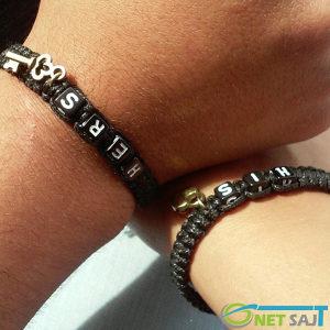 His & Hers set od dvije Narukvice Bracelet Crna -293