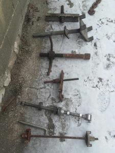 Metalne stege cjevi sa navojima alati