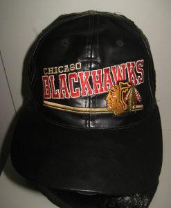 Kožni kačket CHICAGO BLACKHAWKS original
