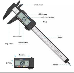 Digitalni šubler mjerač subler pomično mjerilo