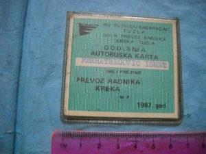 Autobuska karta - godišnja Kreka