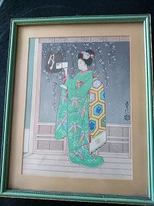 Umjetničko djelo 26x31,5cm Japan