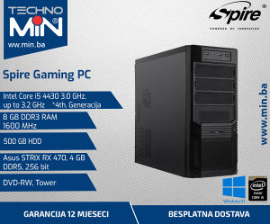 Spire Gaming PC, i5 4430 3.0/8/500/RX4704GB/RW/Tower