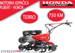 Freza kopačica Pubert Terro sa HONDA motorom