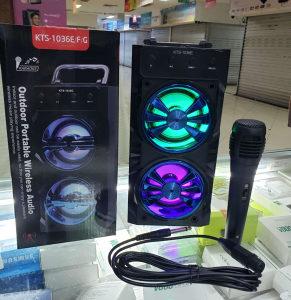 KARAOKE BLUETOOTH-LED-RGB-USB ZVUCNIK--MIKROFON GRATIS