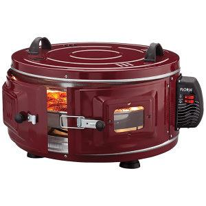 Mini pećnica, okrugla, zapremina 40 l, 1300 W, crvena