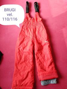 Brugi ski pantalone/ donji dio skafandera br.110/116