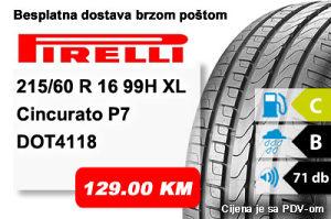 Auto gume / guma 215/60 R16 99H XL Pirelli Cincurato P7