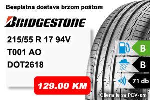Auto gume / guma 215/55 R 17 94V Bridgestone T001 AO
