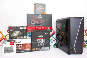 Gaming PC Hexagon 2; Ryzen 7 2700x; RX 570; SSD; 16GB