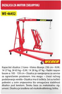 DIZALICA ZA MOTOR SKLOPIVA WE-46452 2-TONE