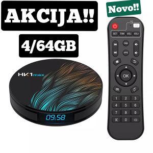 ANDROID TV BOX*4/64 * HK1 max* 9,0 Sistem!!