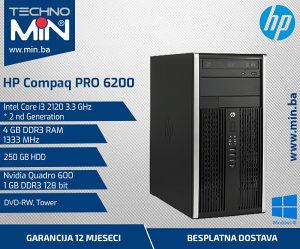 HP PRO 6200, i3 2120 3.3/4/250/Nvidia K600 1GB