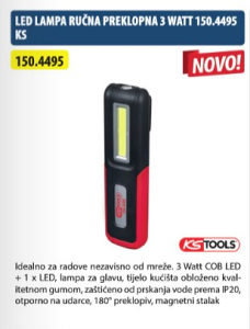 LED LAMPA RUČNA PREKLOPNA 3 WATT 150.4495 KS