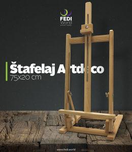 Štafelaj, slikarski stalak, pribor za slikanje 75x20cm