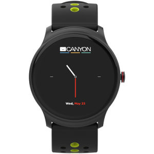 Smart watch, 1.3inches/iOS and android,Black-Green