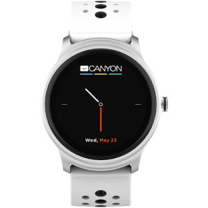Smart watch, 1.3inches iOS and android,white-black