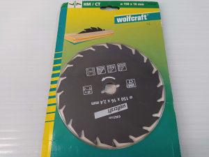 Wolfcraft rezna ploča 150mm, 16mm, 2,4mm, 20 zuba