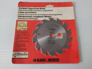 BLACK AND DECKER rezna ploča 140mm x 12,7mm, 14 zuba
