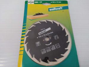 Wolfcraft rezna ploča 142mm, 13mm, 2,4mm, 18 zuba