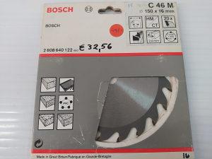 BOSCH rezna ploča 150mm x 16mm, 2,4mm, 20 zuba