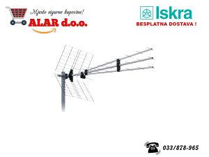 Antena Loga 43 elementa Alu dužina 1190mm P-43N TRIPLEX